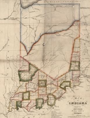 Indiana First State Map