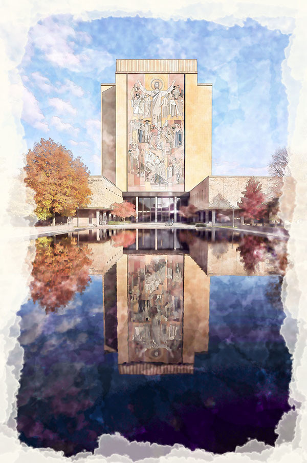 Word of Life mural <br>Hesburgh Library